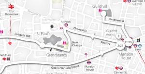 2010 Lord Belediye Baskani Gosteri Guzergahı Haritası