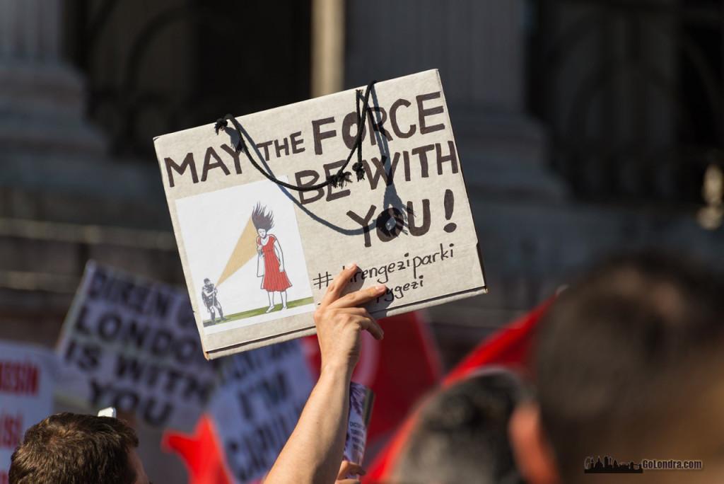 Ingiltere-Londra Protestolari - Occupygezi - Trafalgar Square (12)