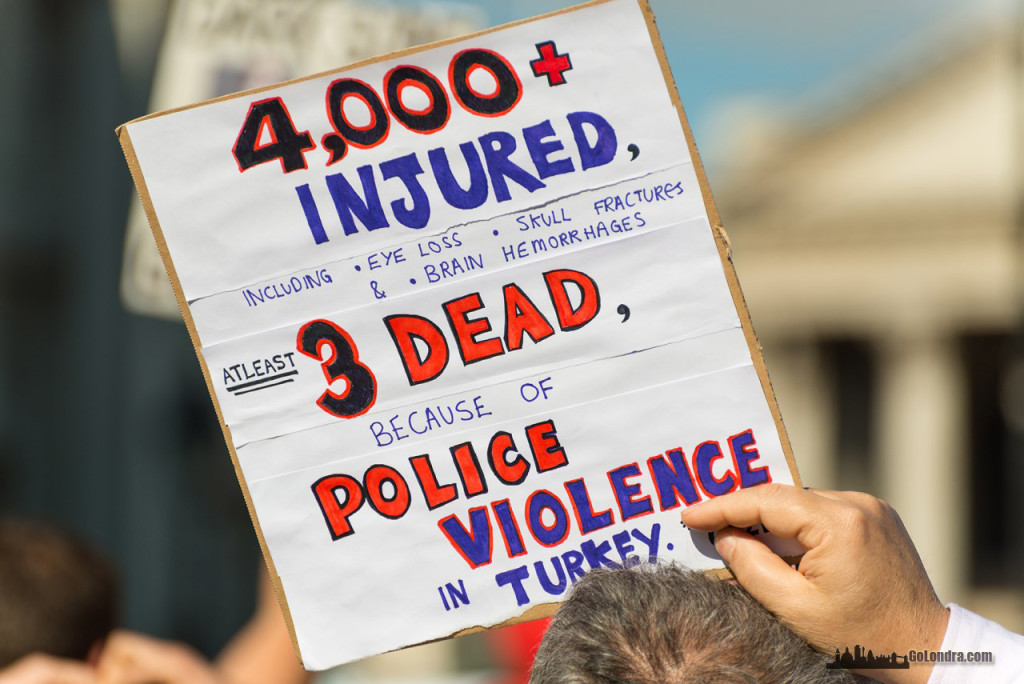 Ingiltere-Londra Protestolari - Occupygezi - Trafalgar Square (13)