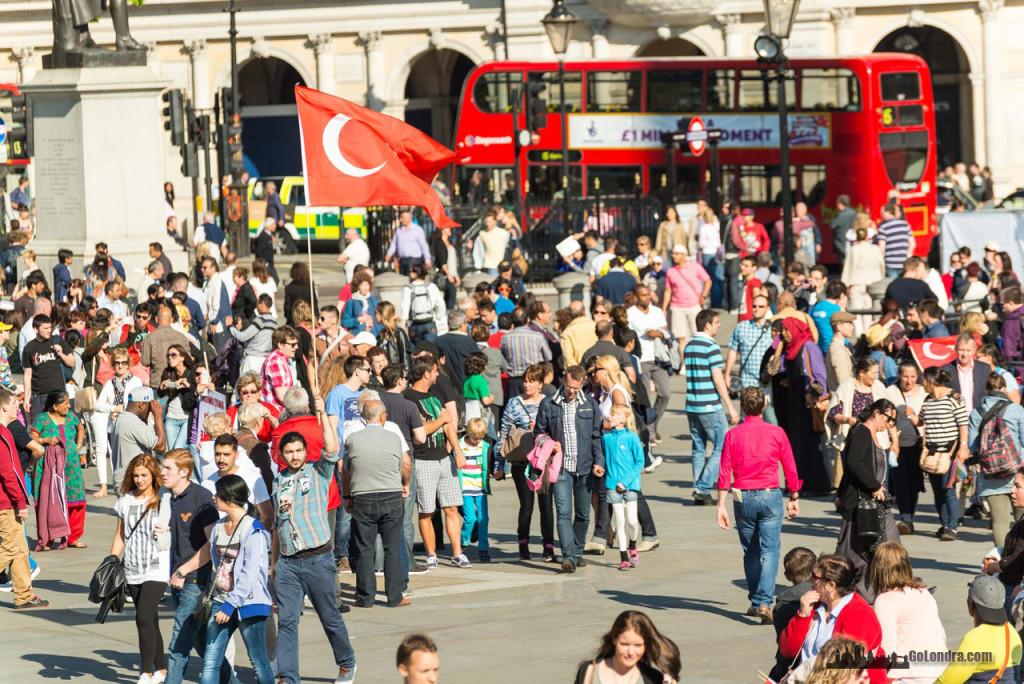 Ingiltere-Londra Protestolari - Occupygezi - Trafalgar Square (16)