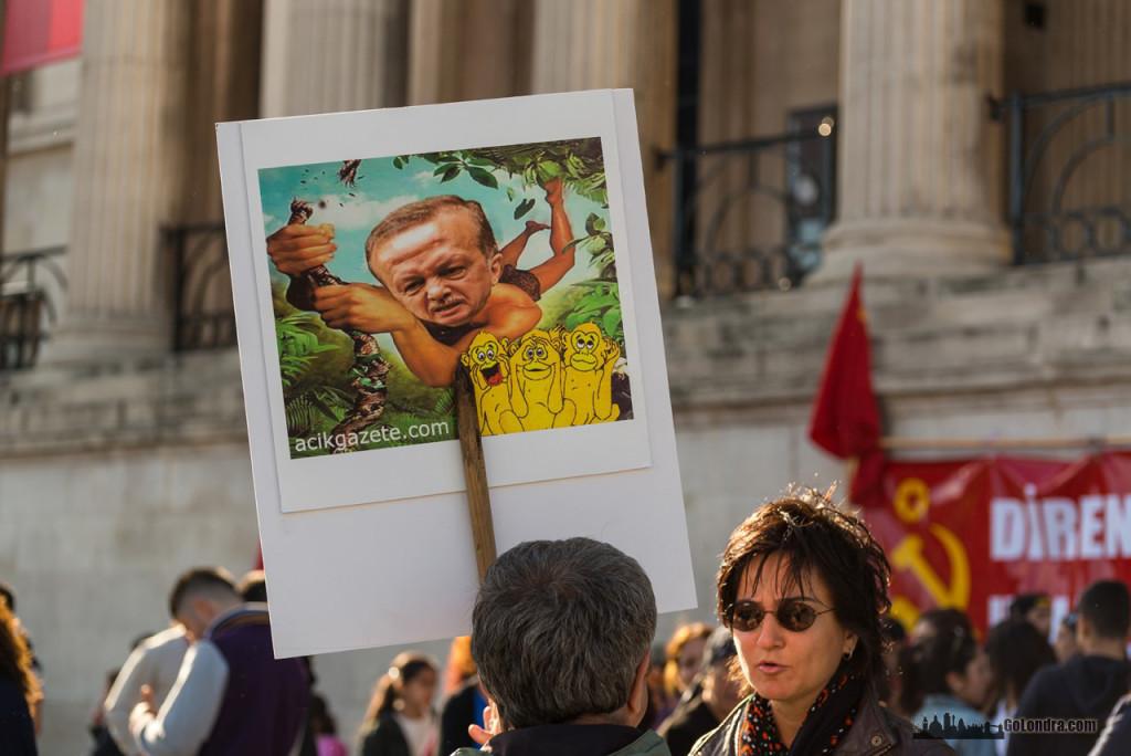 Ingiltere-Londra Protestolari - Occupygezi - Trafalgar Square (22)