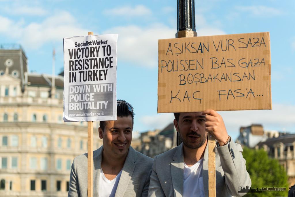 Ingiltere-Londra Protestolari - Occupygezi - Trafalgar Square (24)