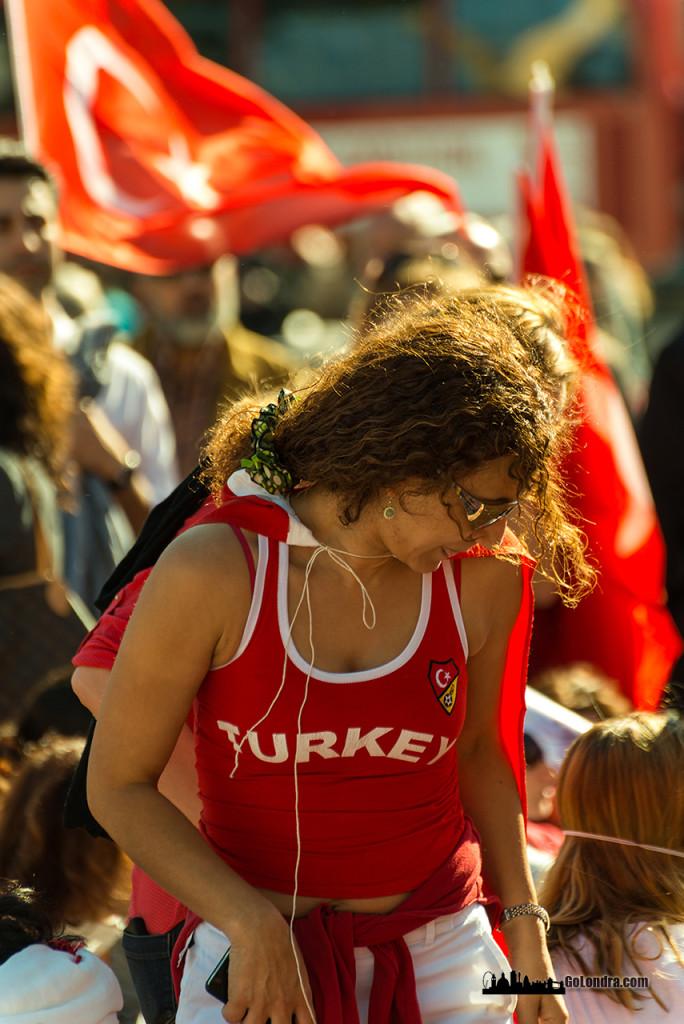 Ingiltere-Londra Protestolari - Occupygezi - Trafalgar Square (7)