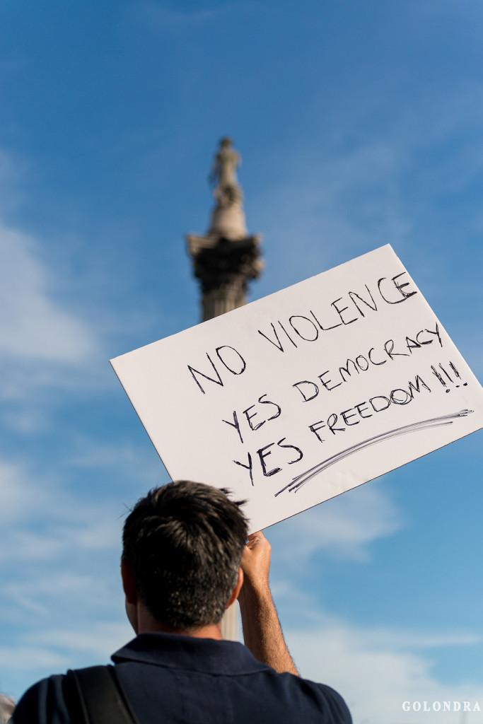 Protests in London Trafalgar Square - Occupygezi (1)