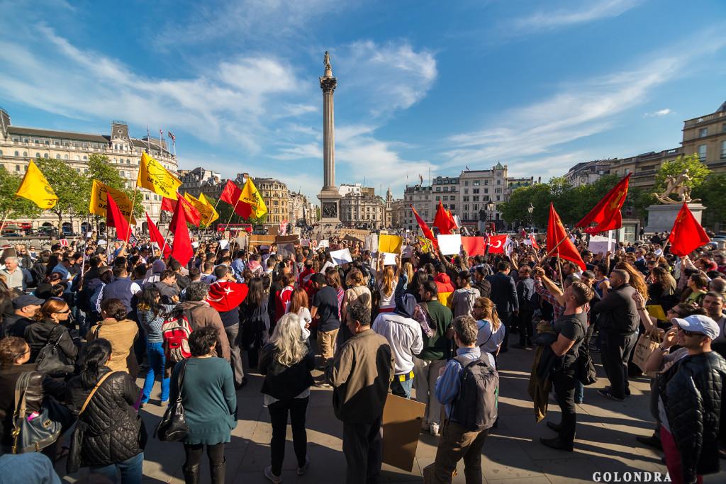 Protests in London Trafalgar Square - Occupygezi (10)