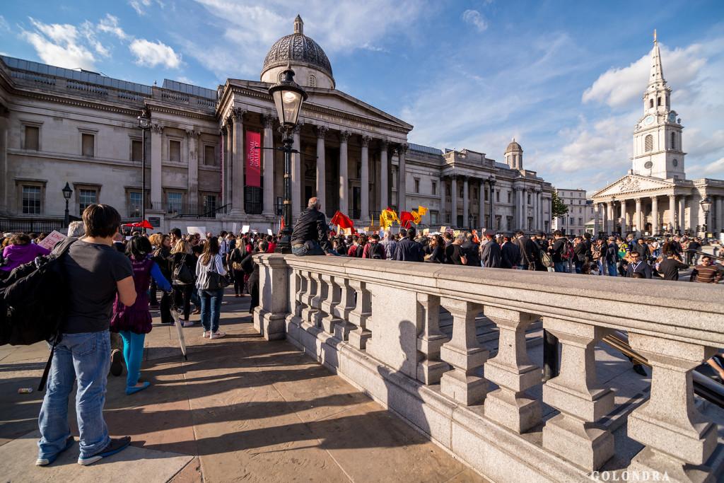 Protests in London Trafalgar Square - Occupygezi (14)