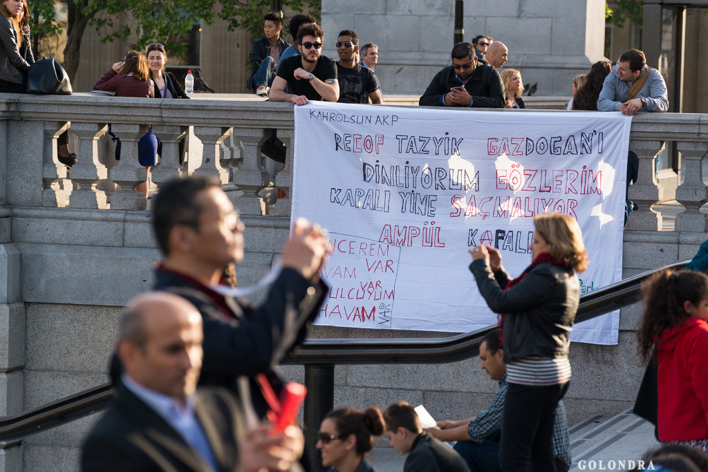 Protests in London Trafalgar Square - Occupygezi (18)