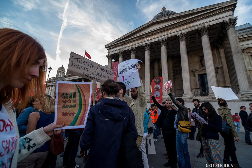 Protests in London Trafalgar Square - Occupygezi (19)