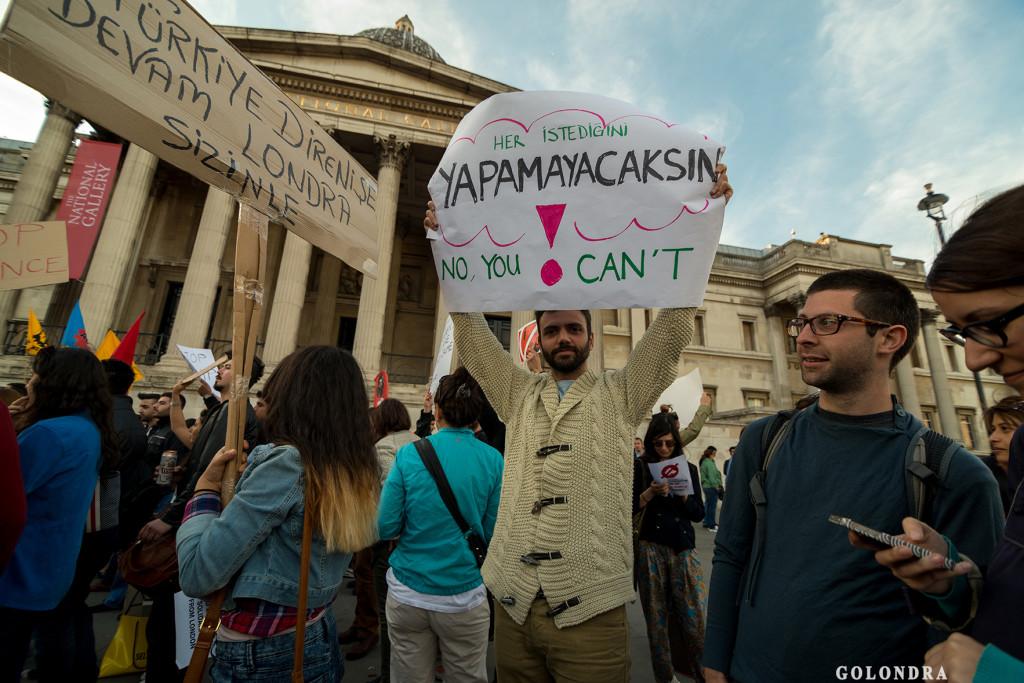 Protests in London Trafalgar Square - Occupygezi (20)