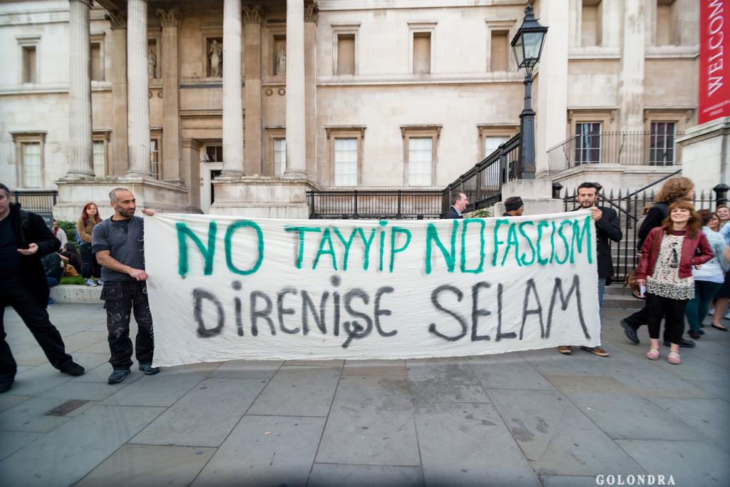 Protests in London Trafalgar Square - Occupygezi (22)