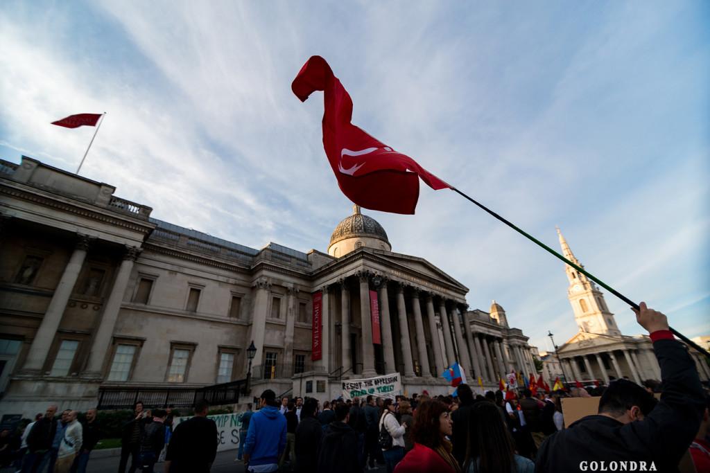 Protests in London Trafalgar Square - Occupygezi (24)
