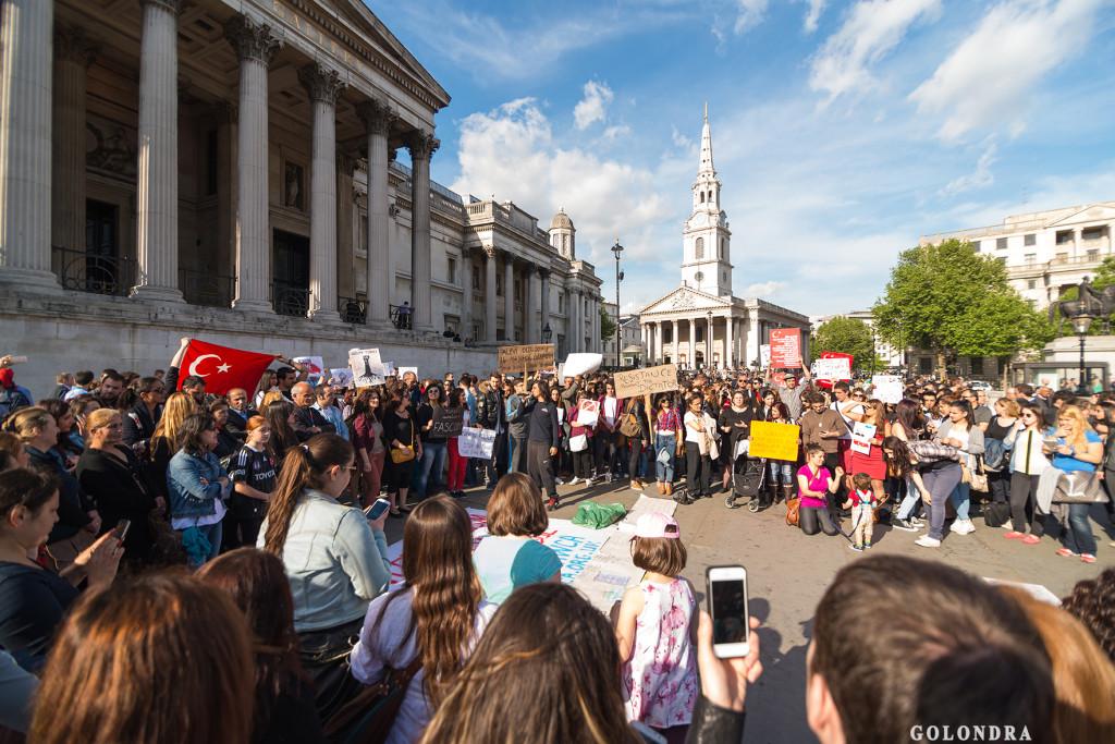 Protests in London Trafalgar Square - Occupygezi (4)