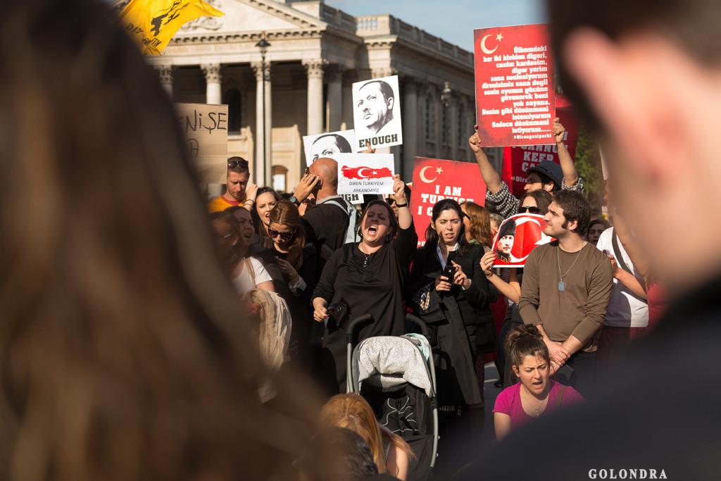 Protests in London Trafalgar Square - Occupygezi (5)