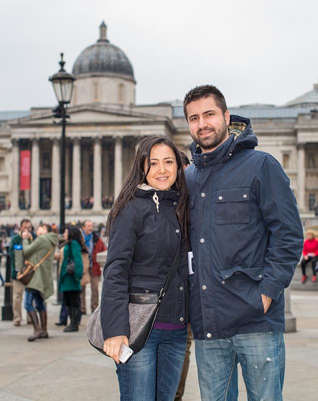 Trafalgar Square'de Portre Cekimi
